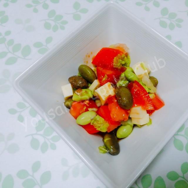 さっぱり。トマトと枝豆のサラダ