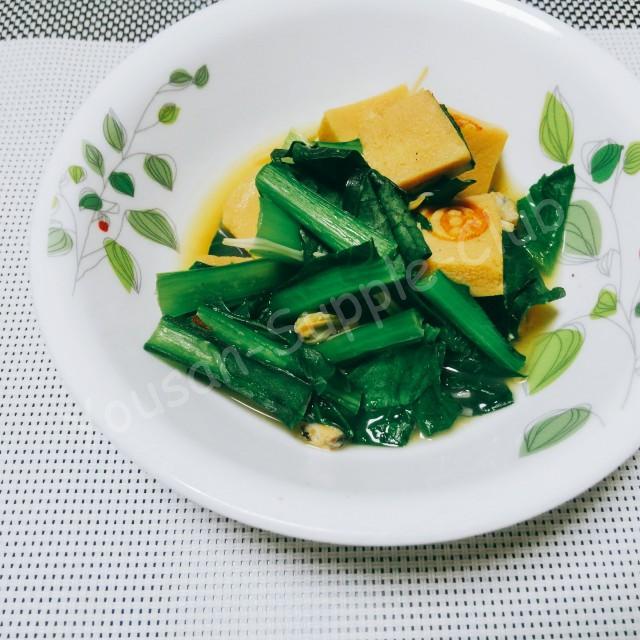 さっぱり、しじみと小松菜のだし煮